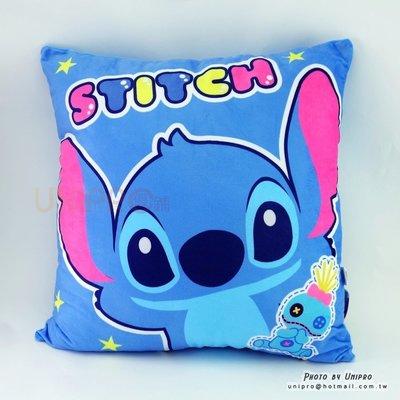 【UNIPRO】迪士尼 史迪奇與醜丫頭 STITCH 45X45 方枕 靠枕 抱枕 正版授權 星際寶貝