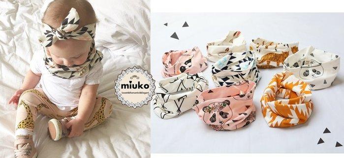 miuko BABY款歐美嬰幼兒男女寶寶 老虎 熊貓 捕夢網 三角 小帳篷 狐狸 蝙蝠俠 雙層 保暖 圍巾 圍脖/現貨