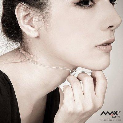 MAXin - TOUCHING 緞帶系列特別紀念款纏綿心鍊純銀項鍊