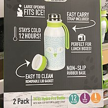 皮卡丘日韓正全球代勿拍加拿大Reduce兒童水杯不銹鋼保冷保溫杯飲料杯二只裝414ML