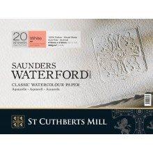 板橋酷酷姐美術 英國Saunders山度士膠裝水彩本!300g熱壓細目紙紋31*41cm!20張