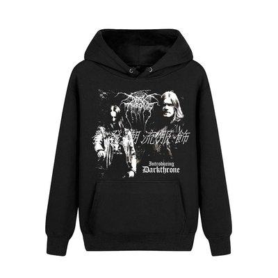發發潮流服飾Darkthrone黑金屬Introducing專輯重金屬樂隊印花連帽加絨衛衣