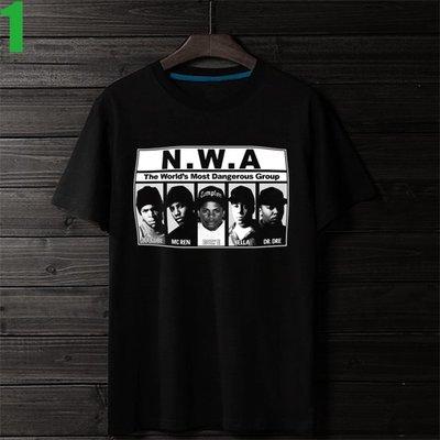 N.W.A【Niggaz Wit Attitudes】短袖嘻哈饒舌(HIP-HOP RAP)歌手T恤 購買多件多優惠!