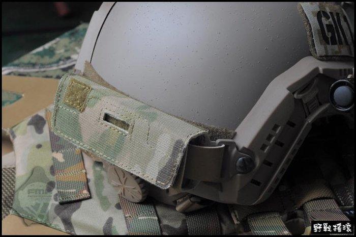 【野戰搖滾-生存遊戲】高品質戰術頭盔配重袋含鐵塊【Multicam】多地形CP迷彩OPS頭盔配重包重量平衡FAST傘兵盔
