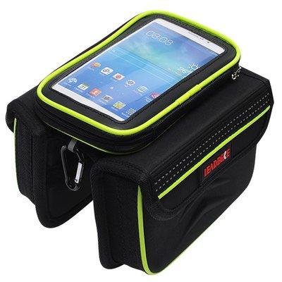 【綠色運動】新款 手機觸控包 配件車管包 腳踏車 車前包 單車 運動 上管包 車梁包 馬鞍包 車把包 龍頭包 雜物包 -印