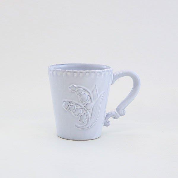 《齊洛瓦鄉村風雜貨》日本zakka雜貨 日本新款鈴蘭系列馬克杯 米白幸運馬克杯 咖啡杯 茶杯