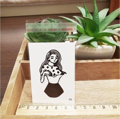 【萌古屋】百態人生55單圖 - 男女防水紋身貼紙刺青貼紙 K43