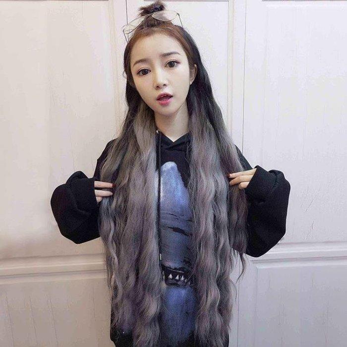 YEAHSHOP 韓式長假髮U型假髮灰色漸變半頭Y185
