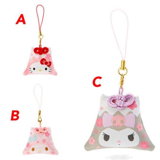 Hello Kitty 香氛鑰匙圈 吊飾 掛飾 鎖圈 香包 富士山造型 櫻花香根付吊飾