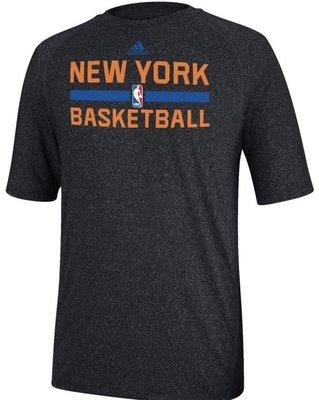 New York Knicks Heather Black Climalite Practice Short Sleeve Shirt by Adidas