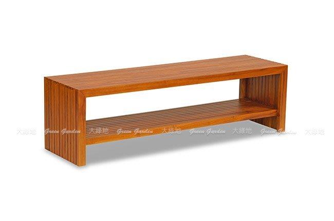 巴黎 柚木長凳-150公分【大綠地家具】100%印尼柚木實木/經典柚木/長椅/電視櫃