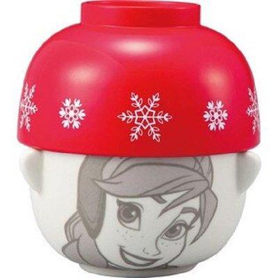 【子供の部屋】日本進口 迪士尼 冰雪奇緣  安娜 造型 碗 飯碗 茶碗 陶瓷碗 湯碗組
