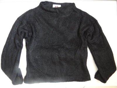 轉賣 AX A/X Armani Exchange 毛海 毛衣 上衣 mohair 柔軟 溫暖 優雅 黑色 S 甜@紐約