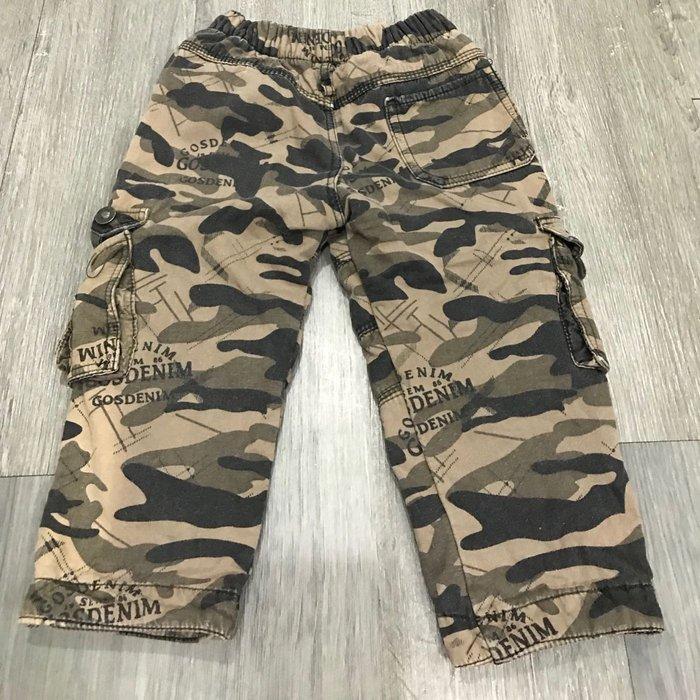 時尚軍紋童褲