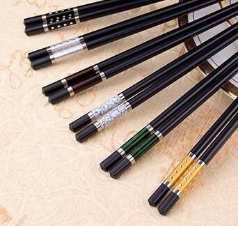 家用筷子分色合金筷子家庭分用筷子套裝