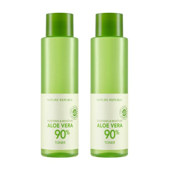 韓國代購 NATURE REPUBLIC 自然樂園 ALOE VERA 90% TONER 蘆薈化妝水護膚水 SET