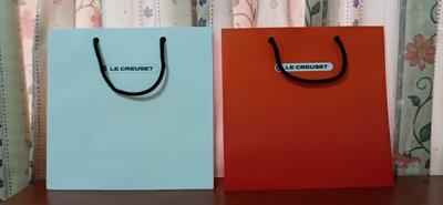 法國 LE CREUSET 原廠提袋/ 購物袋,厚實耐用,長28cm*寬29cm*底寬13.5cm,2色(白/ 橘),可併運 新竹縣