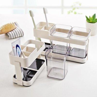 牙刷架  情侶簡約漱口杯套裝 塑料置物牙刷架牙刷杯創意刷牙杯家用牙缸XFJJ21737