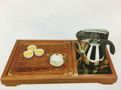 台熱牌全自動補水原木茶盤泡茶機組 AI智慧型 自動給水泡茶機+原木茶盤 食品級304不鏽鋼水壺 無水自動旋轉補水器 專家