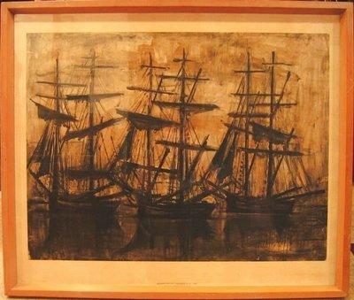 ((天堂鳥)) Bernard Buffet 法國畫家「畢費」原版印刷畫#307