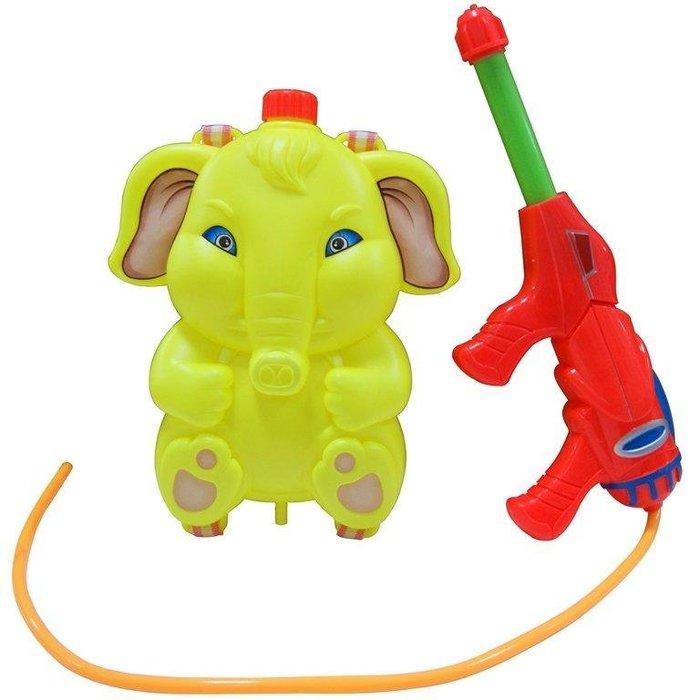 【TreeWalker 露遊】大象水槍 可背式 水槍 游泳 水上活動 親子遊戲 (黃色大象)