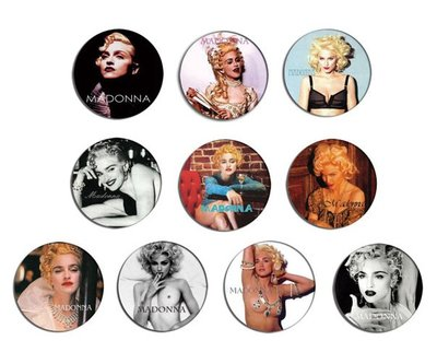 現貨 MADONNA 90's Portrait pinback BADGE SET 1a 襟章 徽章 (一套10個)
