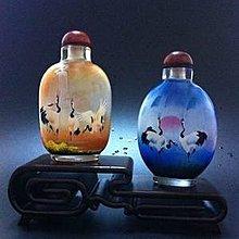 鳴鶴圖3內畫鼻煙壺中國特色手工藝品中國風外事商務小禮品手繪送長輩 壺說70