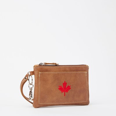 ~☆.•°莎莎~*~☆~~加拿大ROOTS MAPLE LEAF EVERYDAY CLUTCH TRIBE 手拿包