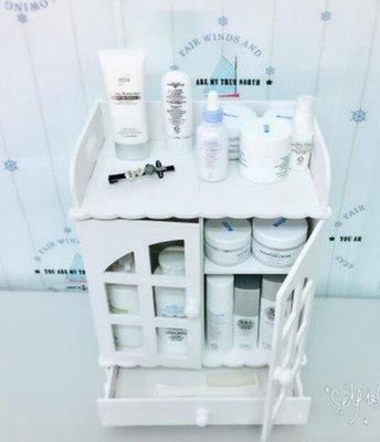 創意桌面化妝品收納盒韓版抽屜式梳妝臺護膚品儲物柜洗漱臺置物LK3659