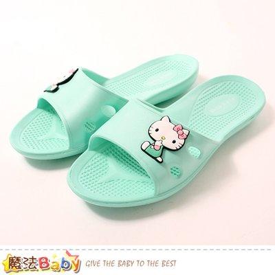 拖鞋 Hello kitty授權正版室內外兩用拖鞋 魔法Baby sk0950