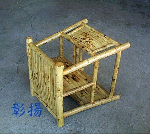 彰揚【碳化竹製椅轎.子母椅】古早味幼兒兩用餐椅.另可當坐椅