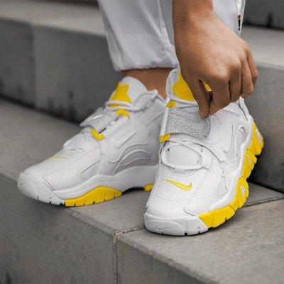 鞋狗體育代購正品耐克Nike Air Barrage Mid 白黃反光大Air女子運動訓練鞋