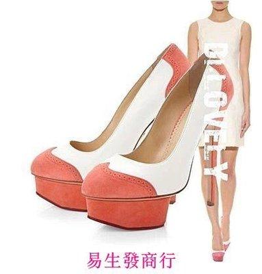 【易生發商行】小S最康熙來了色拼接女鞋防水台高跟婚鞋宴會鞋 升級版OL職F6061