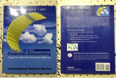 財務會計Financial Accounting:Tools For Business Decision Making