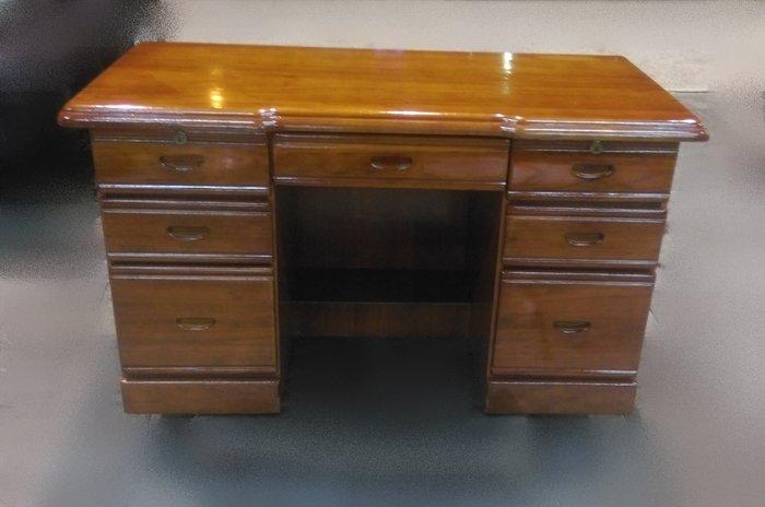 樂居二手家具 CE0914BJJH 七抽實木書桌 書桌 電腦桌 寫字桌 辦公桌 洽談桌 二手家具拍賣 全新中古傢具賣場