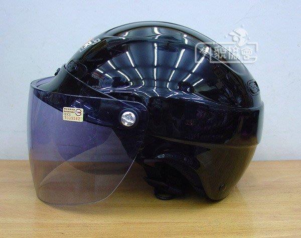((( 外貌協會 ))) M2R-09 透氣半罩安全帽( 亮黑 /墨色鏡片)原價550現在特價400元