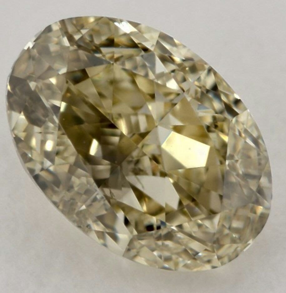 GIA 黃彩鑽 Fancy Light Brownish Grennish Yellow 1.01克拉 特價89500