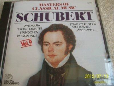 CD , MASTERS OF CLASSICAL MUSIC / SCHUBERT VOL.9