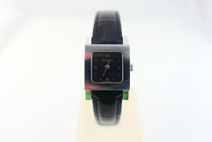 [吉宏精品交流中心]GUCCI 古馳 7900P 正方形 不鏽鋼 石英 皮帶 女錶