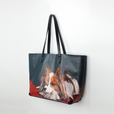 手提包 真皮 托特包-動物印花牛皮肩背女包包2款73vi13[獨家進口][米蘭精品]