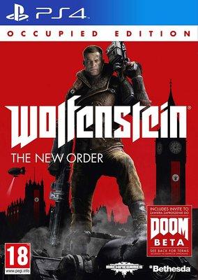 全新未拆 PS4 德軍總部 新秩序 佔領版 限定版 英文版 Wolfenstein New Order Occupied