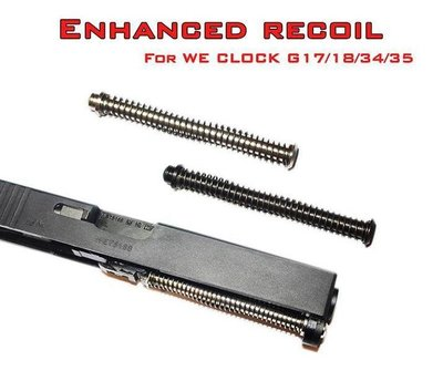 【WKT】神龍 SLONG FOR WE G17.18.34.35 增強型Recoil彈簧導軌-SL-SG01