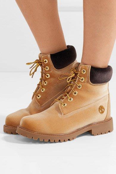 美國代購天伯倫 OFF-WHITE x Timberland丝绒牛皮 男女經典戶外沙漠雪地登山靴高筒馬丁軍靴工裝鞋
