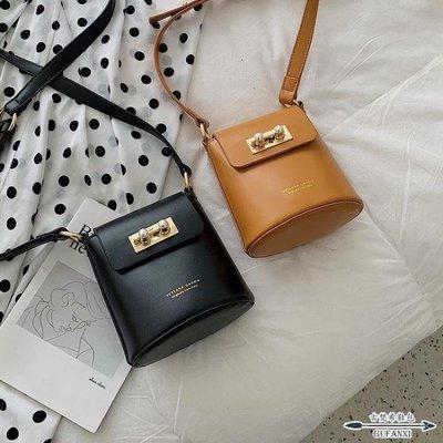日和生活館 水桶包高級感女潮韓版洋氣簡約單肩包時尚百搭S686