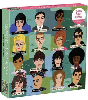 預購 美國代購 Galison 拼圖 24個經典的髮型模特兒 History of Hairdos Puzzle