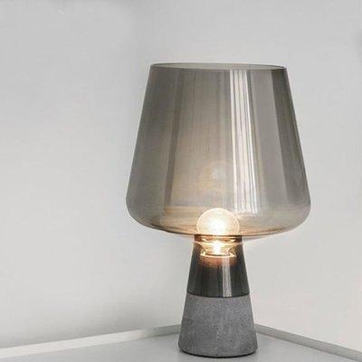 Rural 北歐 創意 現代 簡約 水泥 客廳檯燈 臥室 床頭燈 灰色玻璃檯燈 LED E27 110V~220V
