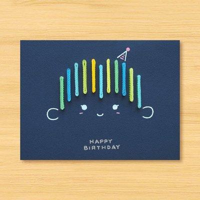 手工捲紙卡片:Happy Birthday_Boy-1(生日卡)