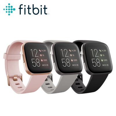 麒麟商城-Fitbit健康運動智慧手錶(Versa2)/AMOLED螢幕/心率追蹤/女性健康追蹤/自動識別運動