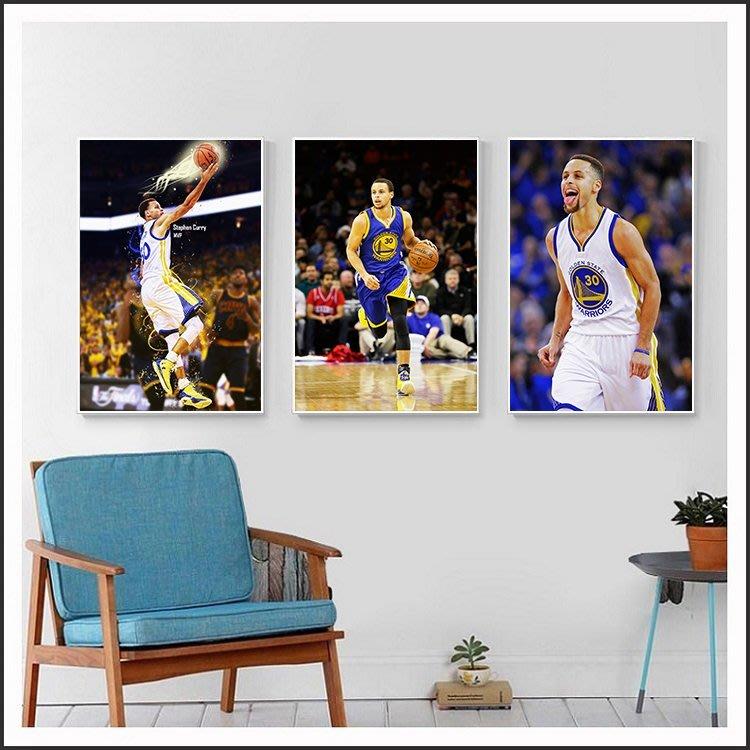 柯瑞 庫里 Curry 勇士隊 NBA 明星海報 藝術微噴 掛畫 嵌框畫 @Movie PoP 賣場多款海報#
