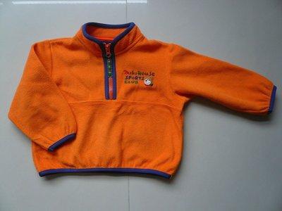 日本製 MIKI HOUSE 輕暖搖粒絨可愛上衣= 90CM-一元起標